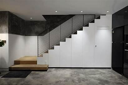 Stairs Storage Hidden Under Stair Powder Staircase