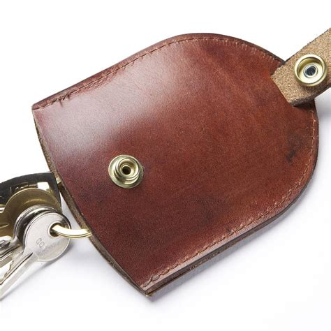 leather key holder brown made leather key pouch by bates