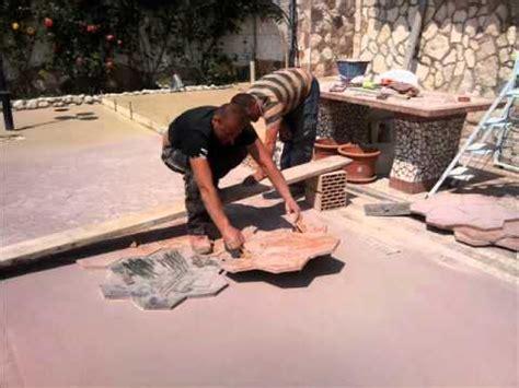 cemento stampato    al mq youtube