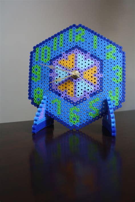 perler bead clock  clock creation  missjackieann