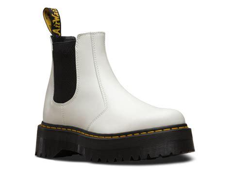 drmartens  quad chelsea boot  white