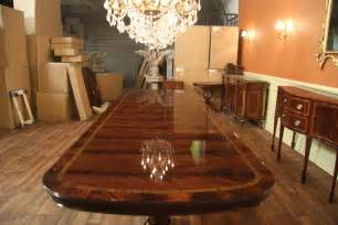 extra large and wide high end american made mahogany dining room table ebay