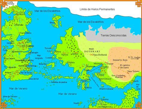 Mapas De Canción De Hielo Y Fuego Y Juego De Tronos