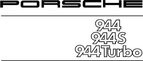 Porsche 944, Manuel Technique `88
