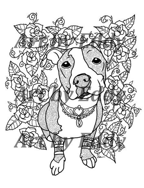 17 Best images about Pit Bull color pages on Pinterest