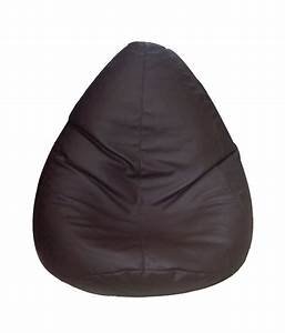 Soft, Jelly, Xl, Brown, Pure, Leather, Bean, Bag, With, Beans