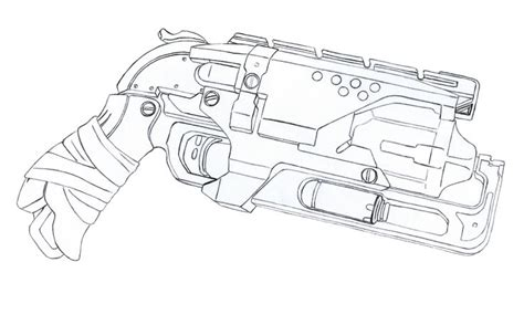 coloring pages images  pinterest weapons guns