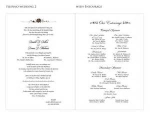 wedding program sles wedding invitation wedding invitation ideas