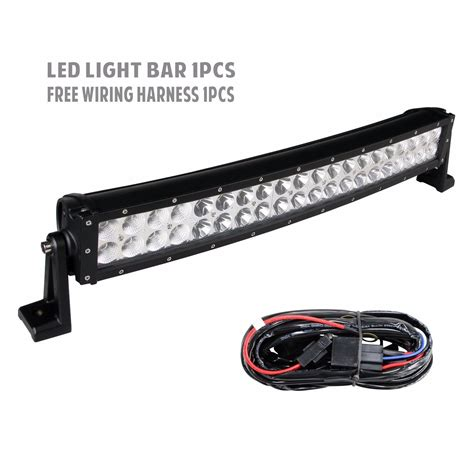 led light bar ebay 22 inch led light bar curved offroad with wiring kit