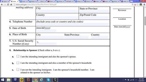 affidavit of support form i 864a