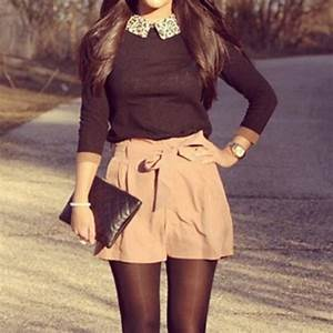 Shorts bow shorts bow cute outfits outfit cute pretty girly girly girly outfits tumblr ...