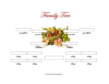 Family Tree Templates With Siblings by 3 Generation Family Tree With Siblings Template