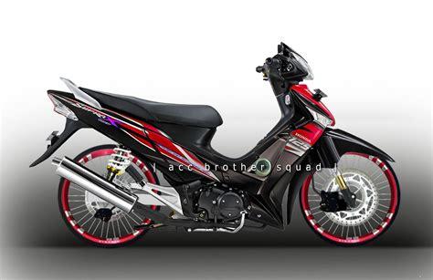 Modifikasi Supra X by 78 Modifikasi Motor Supra X 125 Ban Besar Terbaik Dan