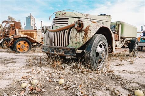 museum campo rusty truck into wild roadtrippers forgotten automotive step history american alongside gourds grow vehicles