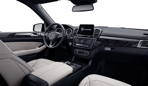 Its interior upgrades include ambient lighting, leather dashboard, special wood trim, and premium porcelain/expresso brown leather upholstery with stitched surfaces. Mercedes-Benz West Island | The 2019 GLS 450 4MATIC in ...