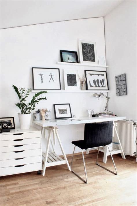 bureau romantique comment meubler et décorer un bureau scandinave blanc et