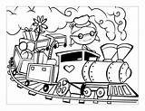 Coloring Choo Train Pages Popular sketch template