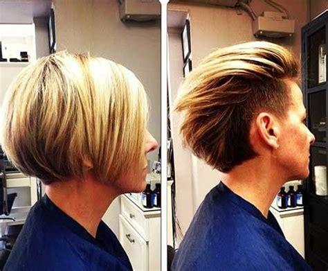 Undercut Blonde Bob Hair Side