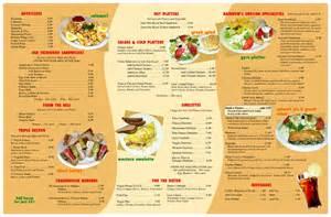 American Food Restaurant Menu