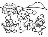 Penguin Coloring Pages Baby Everfreecoloring sketch template