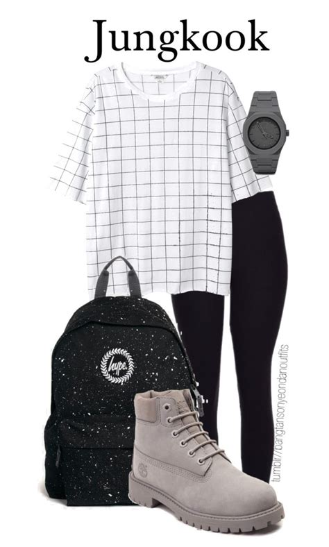 BTS school inspired JUNGKOOK by bangtanoutfits on Polyvore featuring polyvore fashion style ...