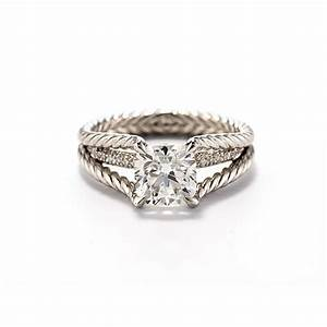 David yurman style wr1013 cable engagement ring with for David yurman wedding ring
