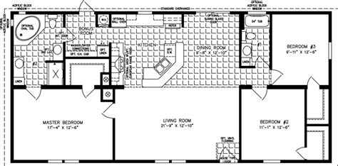 2 bedroom 1 bath mobile home floor plans 1400 to 1599 sq ft manufactured home floor plans