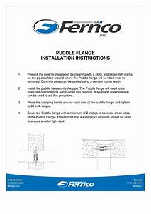 Puddle Flange Installation Instructions