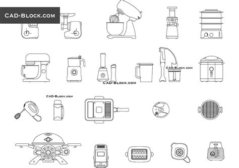 bloc cuisine autocad kitchen small appliances free cad blocks autocad