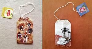 Sachets De Thé À Remplir : une artiste r alise de magnifiques peintures sur des sachets de th food geek love ~ Melissatoandfro.com Idées de Décoration