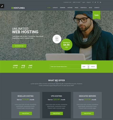 Best Free Website Hosting 70 Best Hosting Website Templates Free Premium