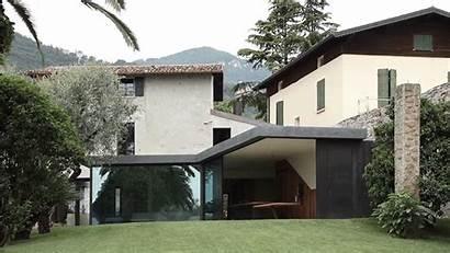 Glass Walls Villa Italian Floor Into Contemporist