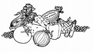 Fruit black and white fruit and vegetable clipart black ...