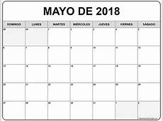 mayo de 2018 calendario gratis Calendario de