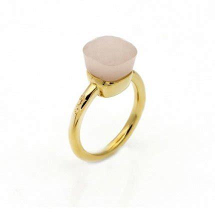 pomellato replica imitation pomellato nudo ring in 18k yellow gold with pink