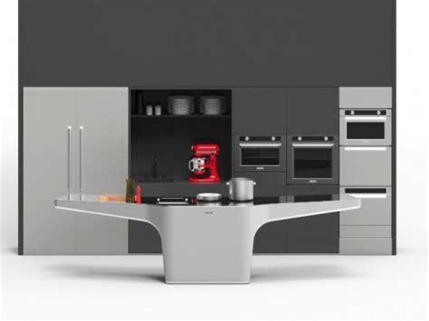 cuisine futuriste une cuisine organisée autour d 39 une table futuriste
