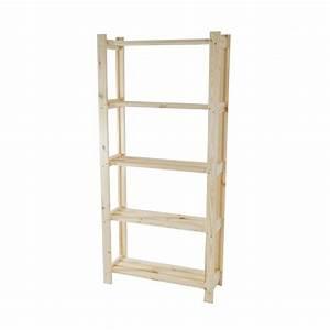 Petite Etagere Bois : etag re en bois meuble de rangement 4 tages eta04007 d coshop26 ~ Teatrodelosmanantiales.com Idées de Décoration