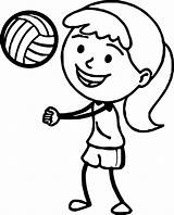 Volleyball Coloring Pages Drawing Printable Playing Players Sports Clipartmag Pass Bump Getdrawings sketch template