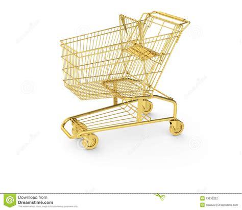 golden shopping cart stock illustration image  wheel