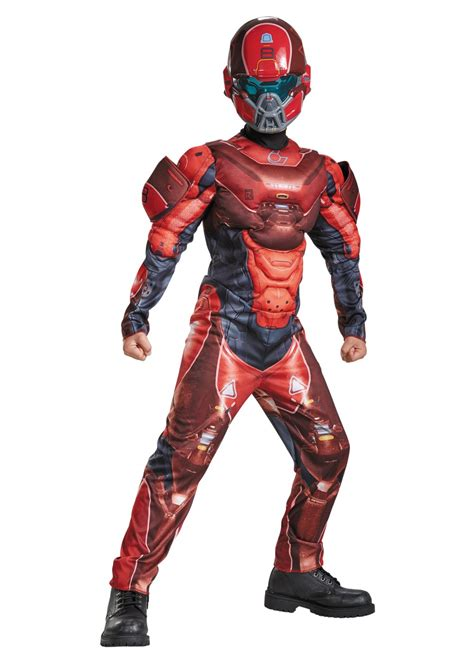 red spartan muscle boys costume video game costumes