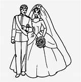 Groom Coloring Bride Hitam Gambar Marriage Putih Keren Barbie Silhouettes Drawing Boyama Damat Gelin Fire Ve Pngkit sketch template