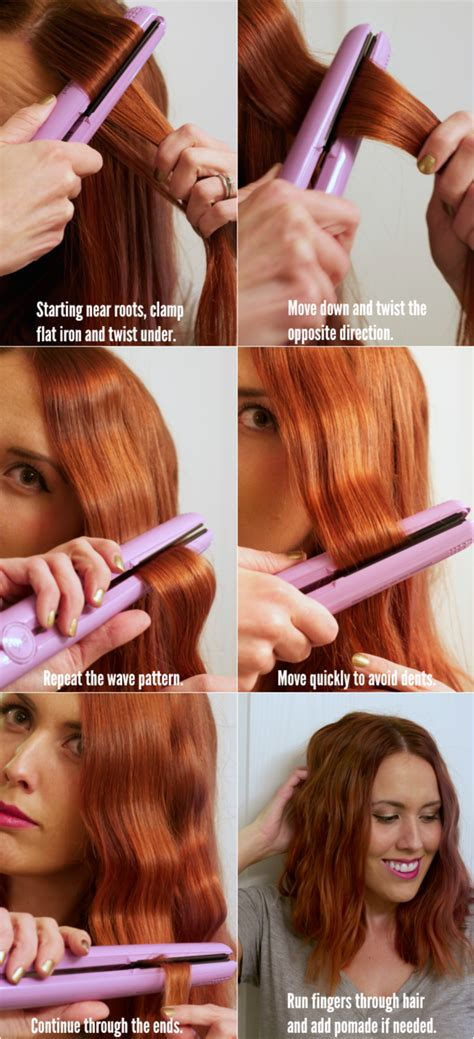 HD wallpapers create different hairstyles with a flat iron