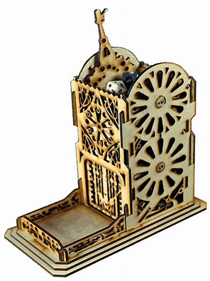 Steampunk Dice Mechanical Towers