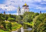 The Pskov Kremlin and Trinity Church, Pskov, Russia ...