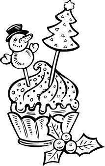 printable christmas cake cup coloring pages  kids coloring pages printable