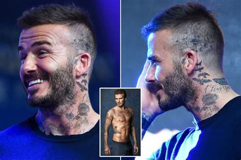checkout david beckhams  head tattoo newscastars