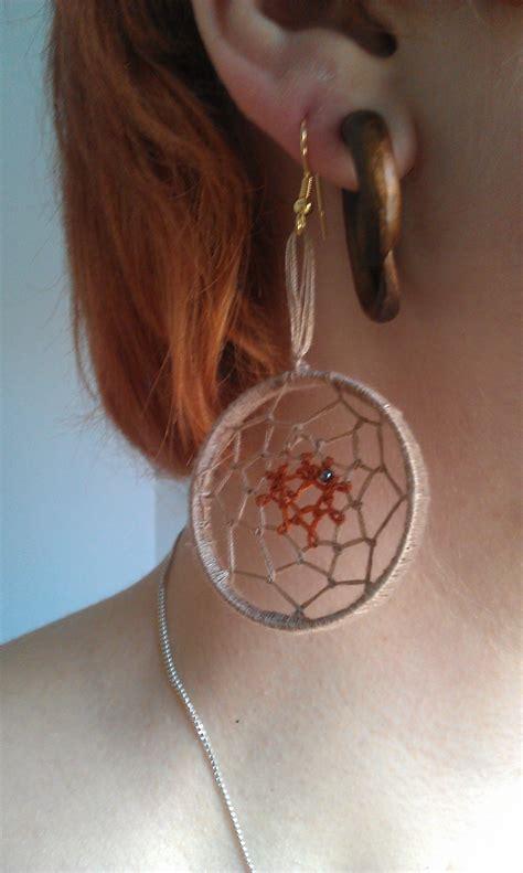 dreamcatcher earrings     pair  dream