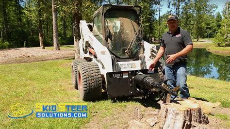 stump planer auger  skid steer  excavator auger attachments youtube