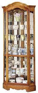 Halogen Light Clips Howard Miller Jamestown Ii 680 250 Oak Corner Curio Cabinet