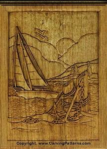 wood carving patterns sailboat relief wood carving With wood carving letters beginners